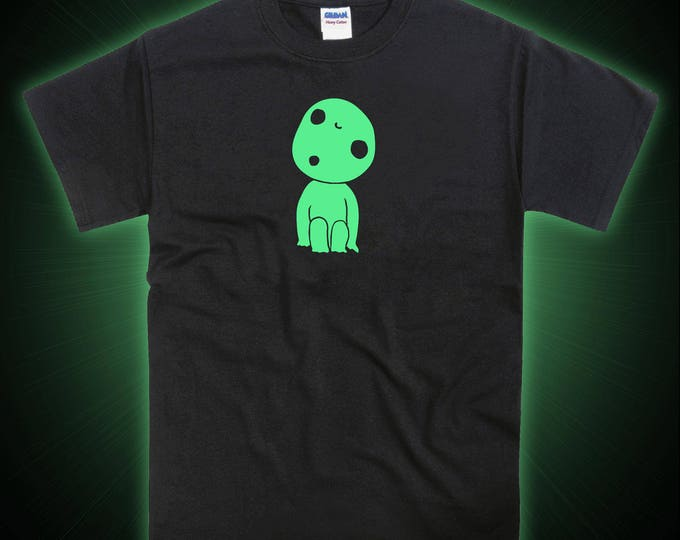 Kodama Mononoke Forest Spirit Inspired Glow in the Dark Tshirt