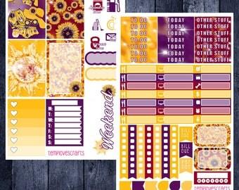 Sunflower Vibes Kit for Happy Planner