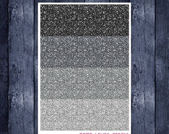 Weekend Sale Monochrome Glitter Headers for ECLP or Happy Planner