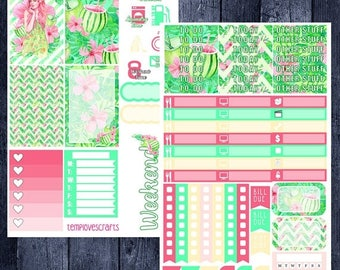 Tropical Vacation Kit for Happy Planner