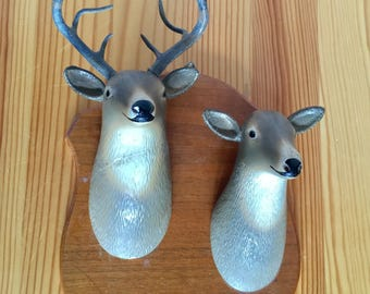 A Buck and a Doe....Gentle Taxidermy