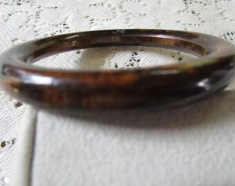 Vintage Bakelite Brown Marbled Bangle