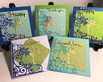 Box of 5 Fairy kisses themed cards