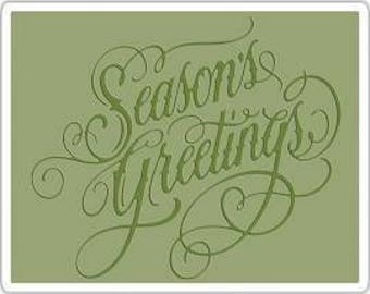 Tim Holtz Stamps SEASON'S GREETINGS Texture Fades Embossing Folder 661000 1-cc52