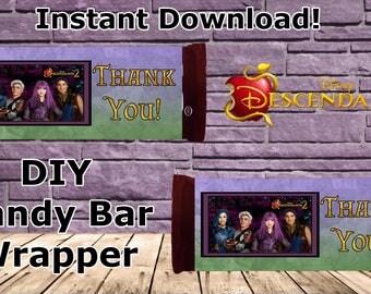 Disney Descendants 2 Candy Bar Wrapper