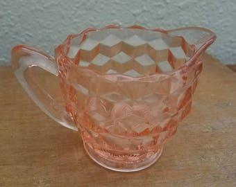 Vintage Pink Depression Glass Creamer