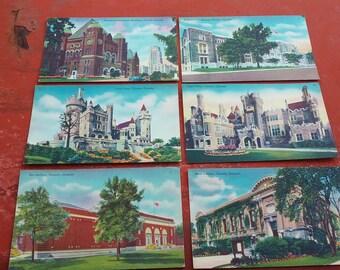 Postcards '50s, vintage Canadian postcards, Toronto souvenirs, set of 6 postcards, Toronto landscapes, Toronto collection, Canada souvenirs