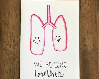 We BeLung Together - appreciation - relationship - couple card - i love you - friendship 5x7
