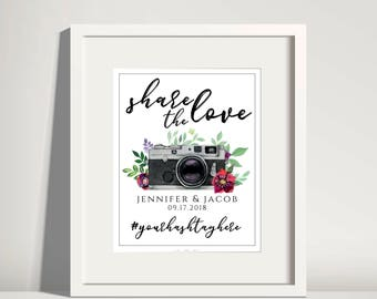 Wedding Hashtag Sign Wedding Printable Wedding Sign Oh Snap Sign Instagram Sign Social Media Sign Tag Your Photos Share The Love Hashtag