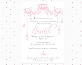 Baby shower invitation / Chandelier / baby girl / printable