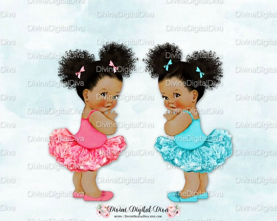 Ruffle Pants Ballerina Pink Amp Turquoise Pony Tails Afro