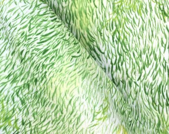 Nani Iro Wild Elegant Wind by Naomi Ito - Wave Green - Japanese Cotton Double Gauze Fabric - HALF YD