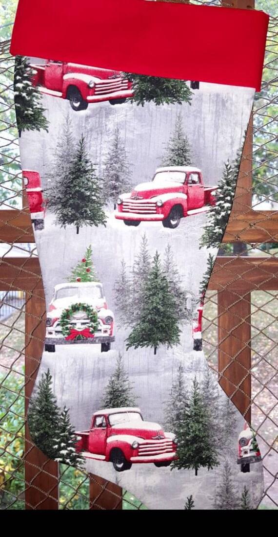 Winter Truck Christmas Stocking