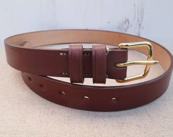 Hand Stitched Leather Belt - Bakers Leather - West End Buckle