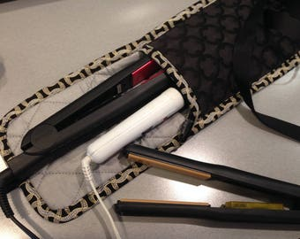 Heat Resistant Hot Styling  Tool Flat Iron Curling Iron Travel Case Bag