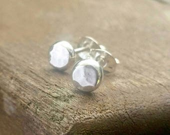 Silver Stud Earrings, silver earrings, stud earrings, silver jewellery, 4mm, 6mm or 8mm size, earrings, silver studs, handmade stud earrings