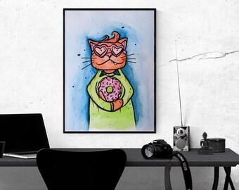Donut Dreamboat Cat