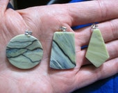 Custom order for Audrey - Healite Pendants 3 pieces ~ Clears Pain ~ Reiki Charged