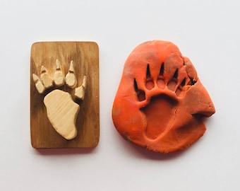 Skunk Animal Tracks, Polecat Nature Play Animal Stamp, Charlotte Mason Homeschool Reggio Montessori Easter Basket Wooden Toy