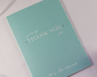 TIFFANY // Wedding Stationery // Thank You Card