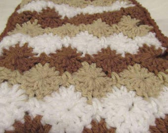 Smores Scarf (Brown, Cream, and White)