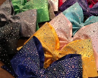 All Fabric Rhinestone Cheer Bow