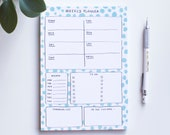 Weekly planner, A5 notepad, tear off deskpad, cute stationery, tear off memo pad