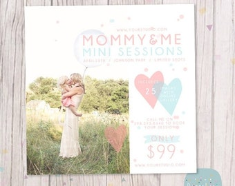 ON SALE Mother's Day Template Mini Session - Photoshop Template IM015 - Instant Download