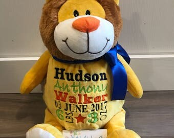 """Cubbies Embroidered Lion """"Sundrop"""""""