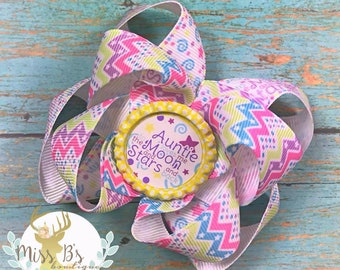Auntie Hair Bow, Auntie Bow, Auntie Baby Bow, Boutique Bow, Stacked Hair Bow, Birthday Bow