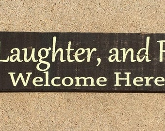 Primitive Country  69014LLF - Love laughter Friends ~Welcome Here