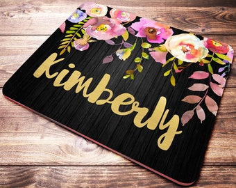 Personalized Mouse Pad, Desk Accessories for Women, Personalized Gifts, Monogram Mouse Pad, Desk Decor, Work Mouse Pad, Office Gifts