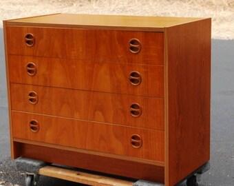 Teak Danish Modern Petite Dresser