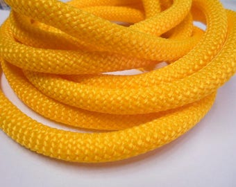"""18"""" 10mm Round Nylon Climbing Cord, Paracord, Yellow Braided Cord for Jewelry Making Craft Supplies, Bracelet, Necklace, Bag, Purse, Kallyco"""