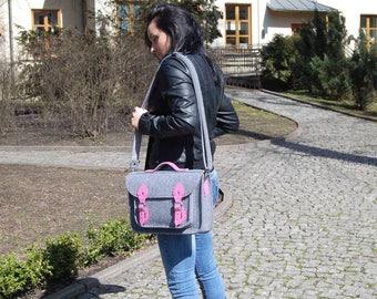 "FELT LAPTOP BAG, purse, pouch, pocket, satchel, custom size 15"""