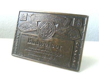 Vintage Budweiser Belt Buckle