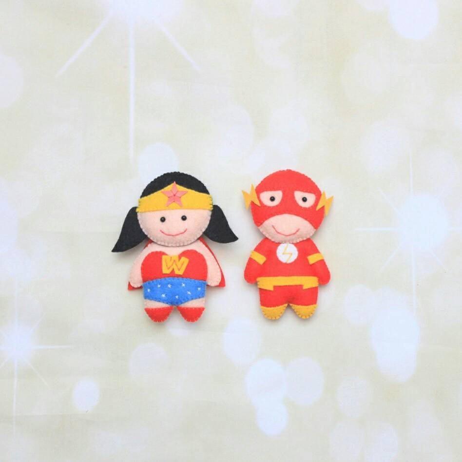 Felt Superhero doll The Flash ornament the Avengers superhero
