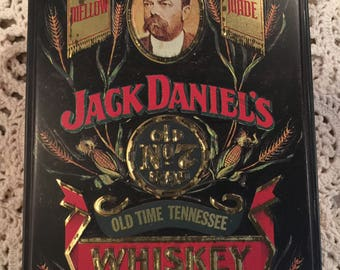 Vintage Jack Daniels Metal Advertising Box / Jack Daniels Tin / Whiskey Tin / Whiskey Box / JD / Advertising Tin / Whiskey