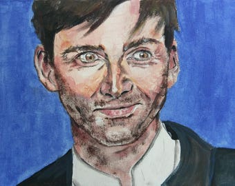 Doctor Who David Tennant Tenth Doctor Original Painting