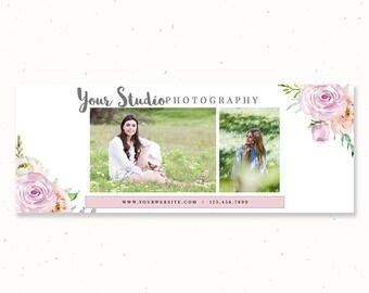 Senior Photography Timeline Facebook Cover Template, Photography Timeline, Photographer Facebook Cover, Template for Photographer, fbt09