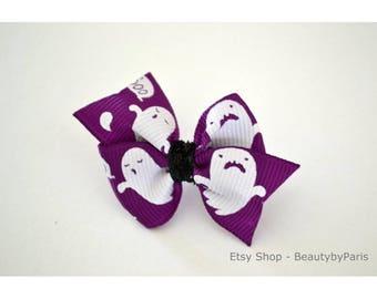 Ghost Pinwheel Dog Bow