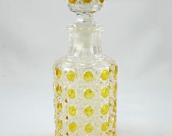 Duncan Glass Cologne Bottle Buttons Pattern Amber Stain 1900