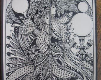 Conjoined....illustrative digital prints