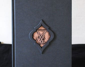 Lucifers Seal , Book of Shadows,Occult Magickal diary,Hardcover Sketchbook A5 Size , Luciferian