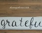 So Grateful Salvaged Wood Sign