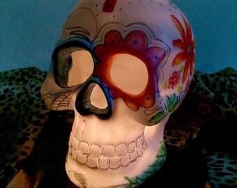 Sugar Skull Decor, LED Candle Holder
