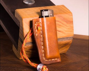 handmade lighter cover, lighter case,  Handmade Leather lighter Case ,Leather  Case, Leather lighter holder,
