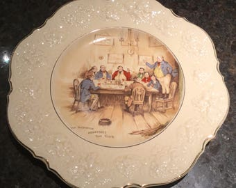 "Vintage Crown Ducal Ware "" Mr. Pickwick Addresses The Club"" China Plate."