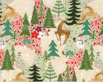 Berry Merry by Basic Grey for Moda Fabrics, Christmas fabric, Cream, 3047011