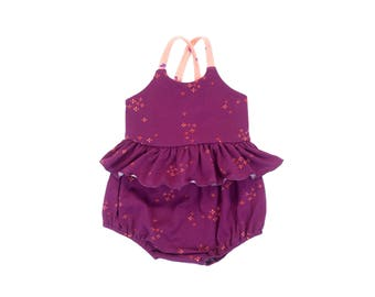 Stardust Galaxy Skirted Bubble Romper